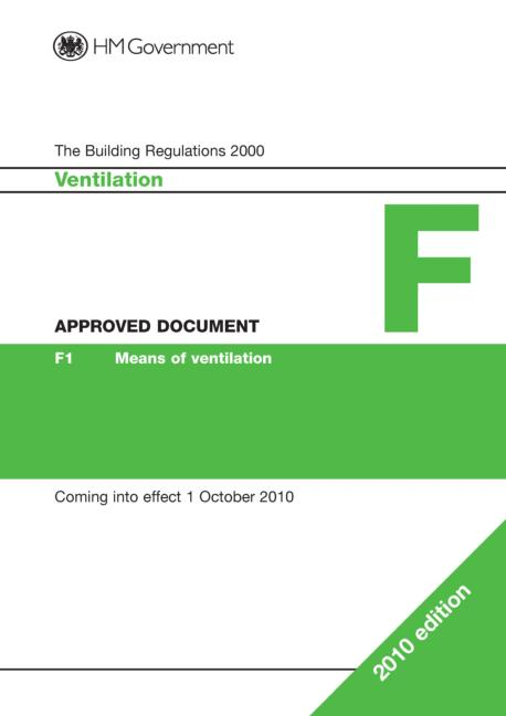 Approved Document F: Ventilation, 1st Edition (Paperback) book cover