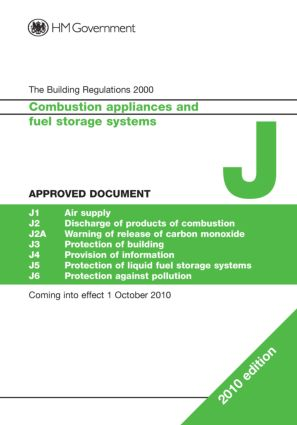 Approved Document J: Combustion appliances and fuel storage systems, 1st Edition (Paperback) book cover