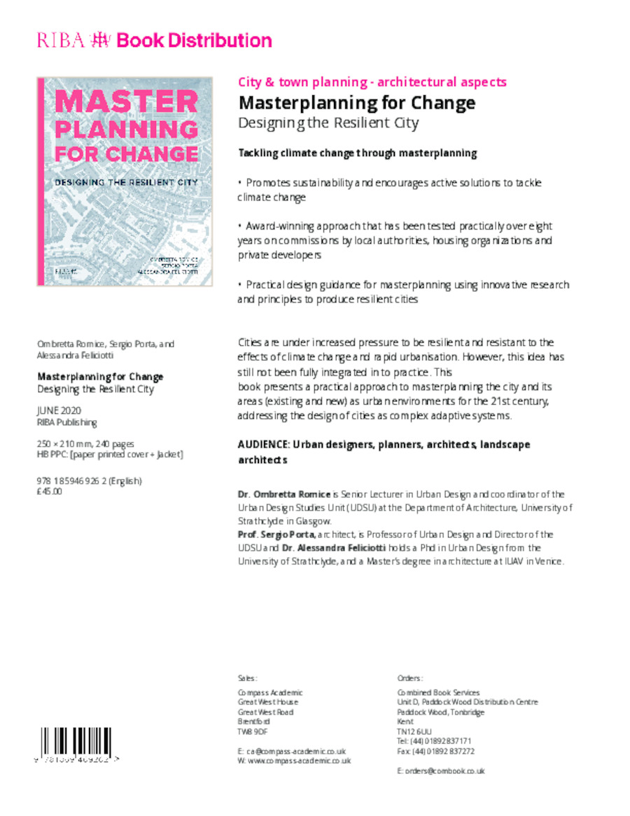 Masterplanning for Change: Designing the Resilient City book cover