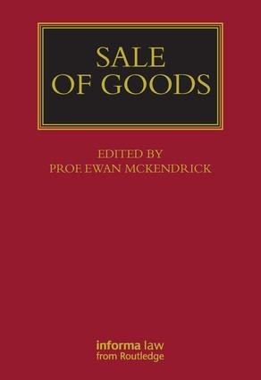Sale of Goods (Hardback) book cover