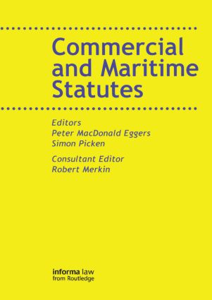 Commercial and Maritime Statutes book cover