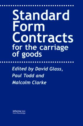 Contracts for the Carriage of Goods book cover