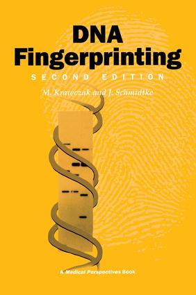 DNA Fingerprinting: 1st Edition (Paperback) book cover