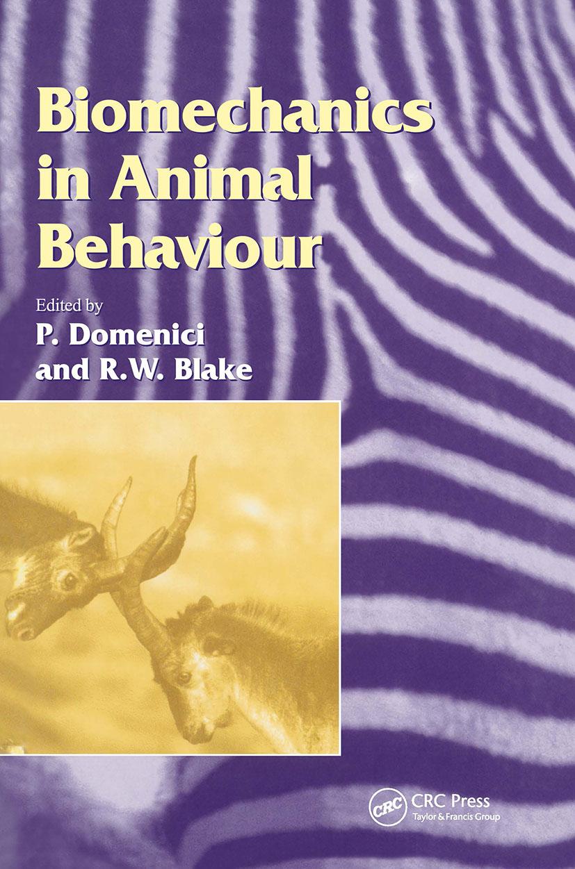 Biomechanics in Animal Behaviour book cover