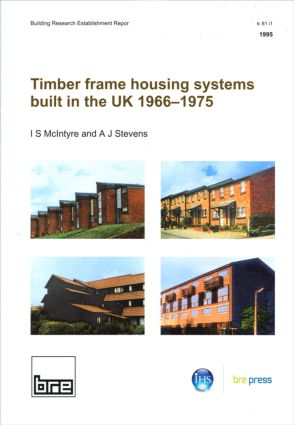 Timber Frame Housing Systems Built in the UK 1966-1975: (BR 284), 1st Edition (Paperback) book cover