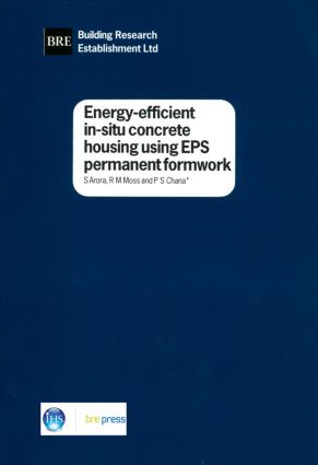Energy-efficient In-situ Concrete Housing Using EPS Formwork: (BR 347), 1st Edition (Paperback) book cover