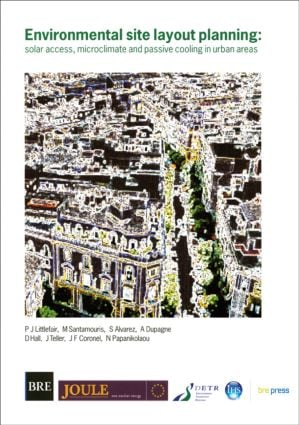 Environmental Site Layout Planning: Solar Access, Microclimate and Passive Cooling in Urban Areas (BR 380) book cover