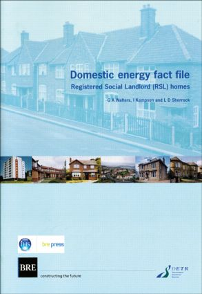 Domestic Energy Fact File: Registered Social Landlord (RSL) Homes (BR 411), 1st Edition (Paperback) book cover