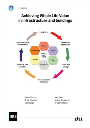 Achieving Whole Life Value in Infrastructure and Buildings: (BR 476), 1st Edition (Paperback) book cover