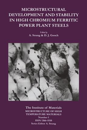 Microstructural Development and Stability in High Chromium Ferritic Power Plant Steels: 1st Edition (Hardback) book cover