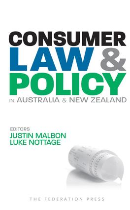 Consumer Law and Policy in Australia and New Zealand: 1st Edition (Paperback) book cover