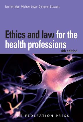 Ethics and Law for the Health Professions: 4th Edition (Paperback) book cover