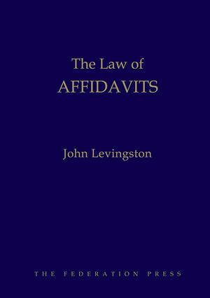 The Law of Affidavits book cover