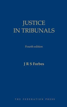 Justice in Tribunals: 4th Edition (Hardback) book cover