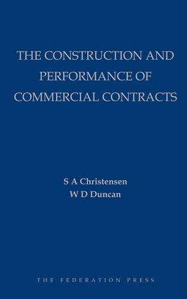 The Construction and Performance of Commercial Contracts book cover