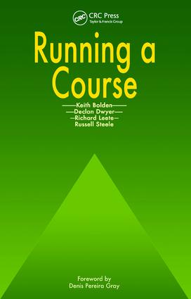 Running a Course: 1st Edition (Paperback) book cover