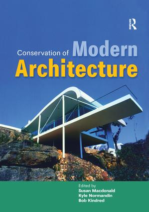 Conservation of Modern Architecture: 1st Edition (Paperback) book cover