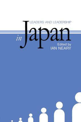 Leaders and Leadership in Japan (Hardback) book cover