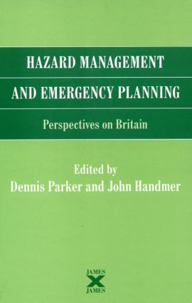 Hazard Management and Emergency Planning: Perspectives in Britain (Hardback) book cover