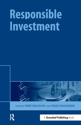 Responsible Investment: 1st Edition (Hardback) book cover
