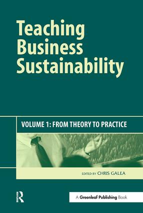 Teaching Business Sustainability: From Theory to Practice book cover