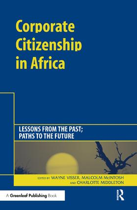 Corporate Citizenship in Africa: A special theme issue of The Journal of Corporate Citizenship (Issue 18) (Paperback) book cover