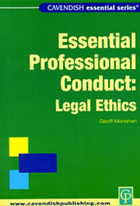 Essential Legal Ethics book cover