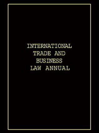 International Trade & Business Law Annual Vol III
