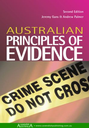 Australian Principles of Evidence book cover