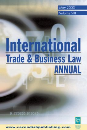 International Trade and Business Law Review: Volume VIII book cover