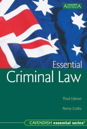 Essential Criminal Law: third edition book cover