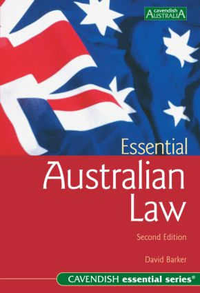 Essential Australian Law: second edition book cover