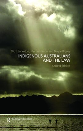 Indigenous Australians and the Law: 2nd Edition (Hardback) book cover