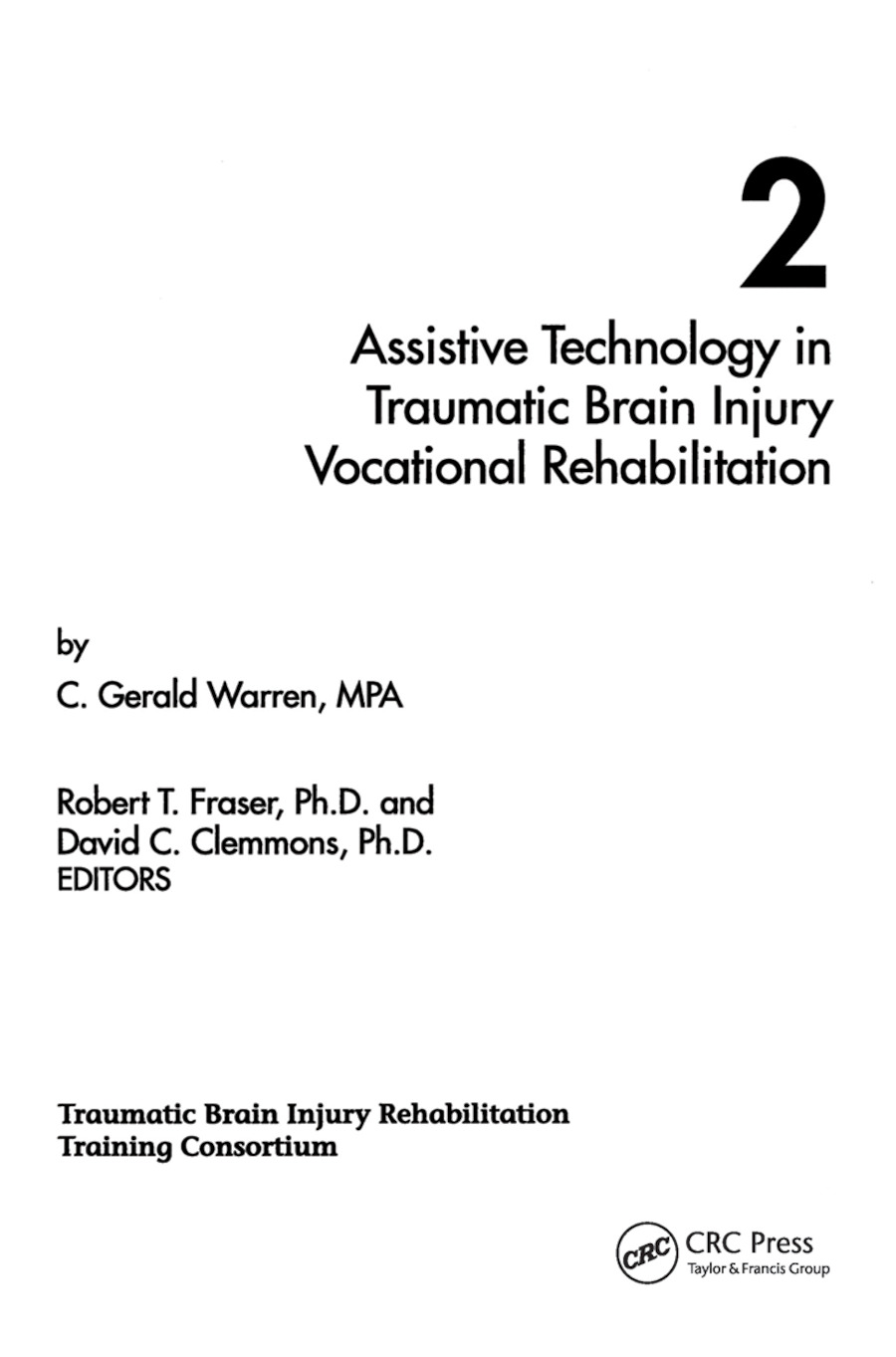 Assistive Technology in Traumatic Brain Injury Vocational Rehabilitation (Paperback) book cover