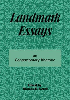 Landmark Essays on Contemporary Rhetoric: Volume 15 book cover