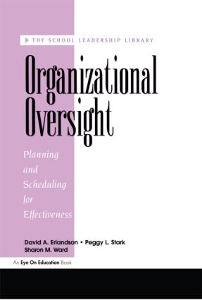 Organizational Oversight: Planning and Scheduling for Effectiveness, 1st Edition (Paperback) book cover