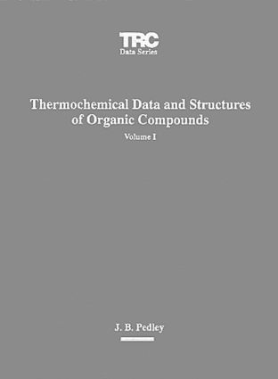 Thermochemical Data and Structures of Organic Compounds: 1st Edition (CD-ROM) book cover