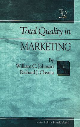 Total Quality in Marketing: 1st Edition (Hardback) book cover