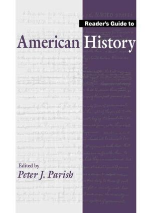 Reader's Guide to American History: 1st Edition (Hardback) book cover