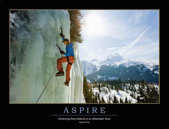 Aspire Poster: 1st Edition (Poster) book cover