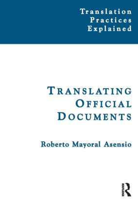 Translating Official Documents: 1st Edition (Paperback) book cover
