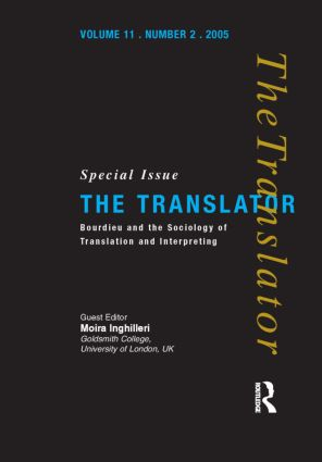 Bourdieu and the Sociology of Translation and Interpreting: 1st Edition (Hardback) book cover
