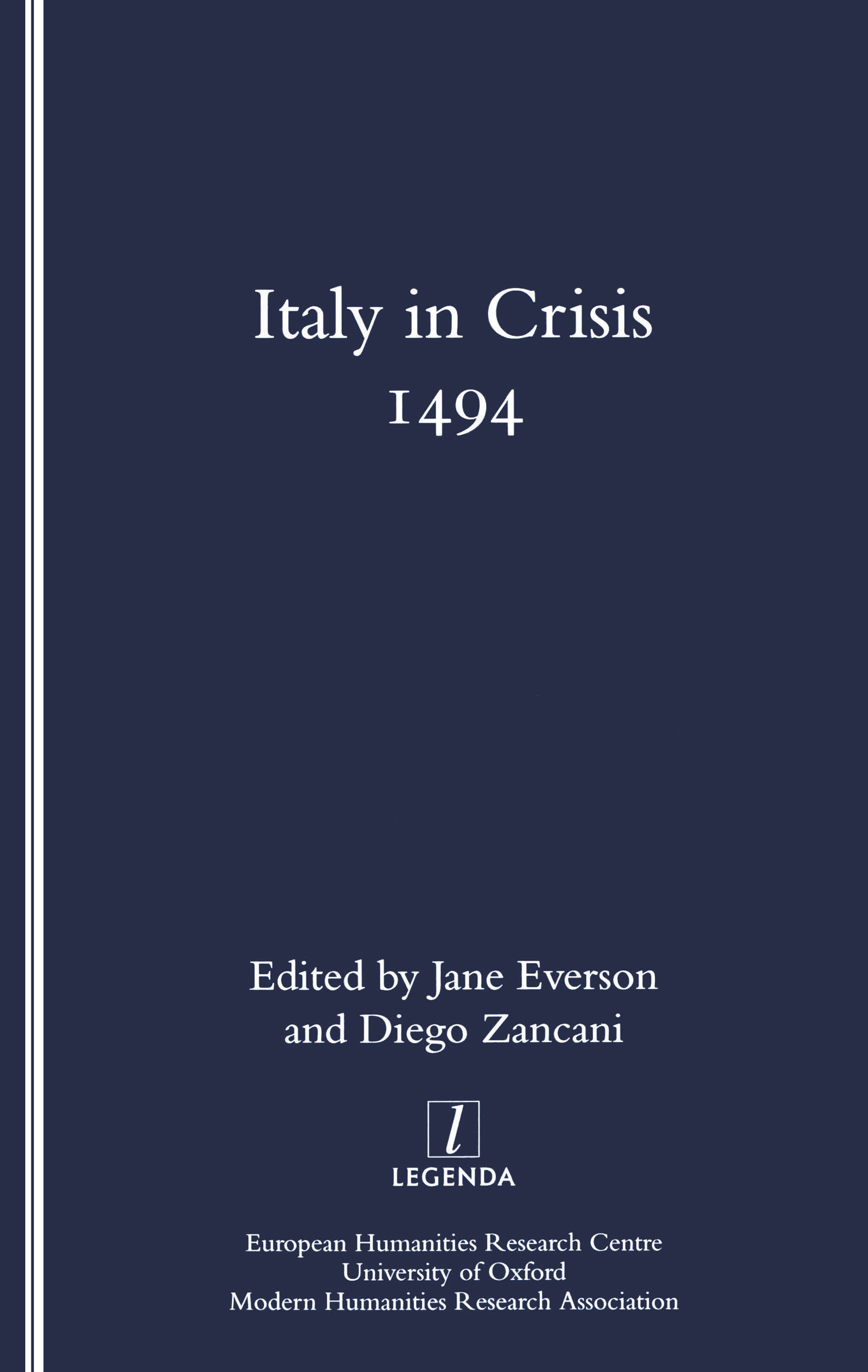 Italy in Crisis: 1494, 1st Edition (Paperback) book cover