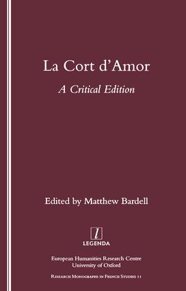 La Cort d'Amor: A Critical Edition, 1st Edition (Paperback) book cover