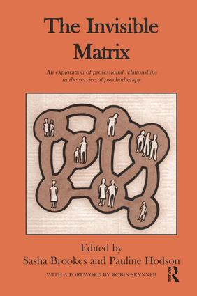 The Invisible Matrix: An Exploration of Professional Relationships in the Service of Psychotherapy, 1st Edition (Paperback) book cover