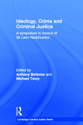 Ideology, Crime and Criminal Justice book cover