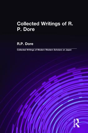 Collected Writings of R.P. Dore book cover