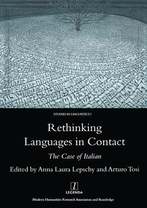 Rethinking Languages in Contact: The Case of Italian, 1st Edition (Hardback) book cover