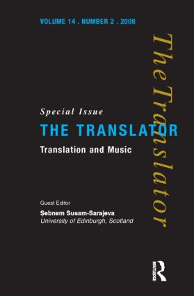 Translation and Music: 1st Edition (Paperback) book cover
