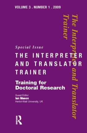 Training for Doctoral Research: 1st Edition (Hardback) book cover